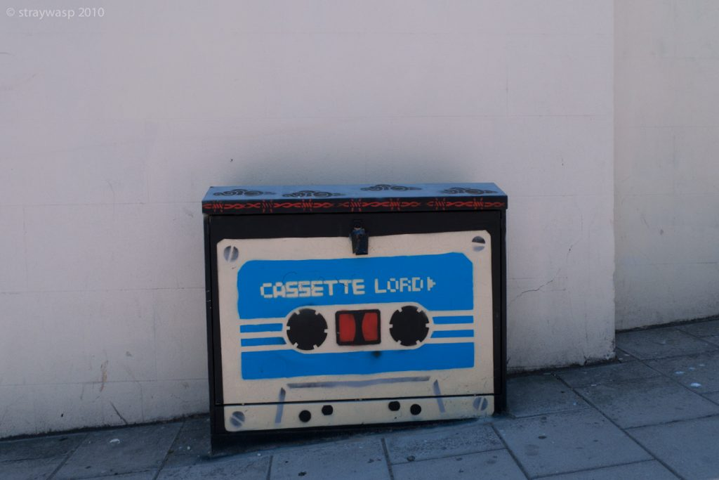 Cassette Lord Graffiti On Green Box